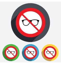 No glasses Retro glasses sign icon vector image