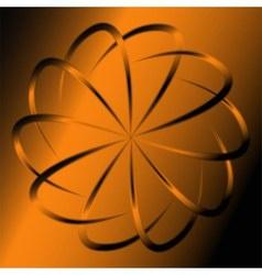 Orange abstract swirl background vector