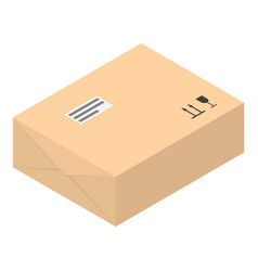 paper box icon isometric style vector image