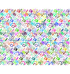 Pattern of different colors numbers vector