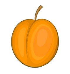 Peach icon cartoon style vector