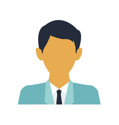 Portrait business man character manager people vector