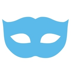 Privacy Mask flat blue color icon vector