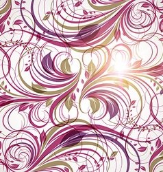 Purple Floral Background vector image
