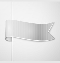Realistic shiny grey ribbon isolated vector