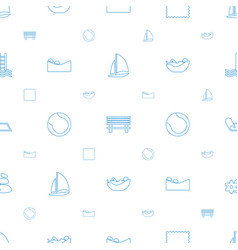 Relaxation icons pattern seamless white background vector