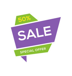 sale banner design template flat origami speech vector image