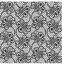 seamless flower lace pattern on white background vector image
