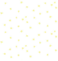 seamless pattern with yellow stars vector image