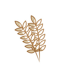 silhouette healthy wheats organ plant nutricious vector image
