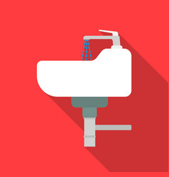 sink icon in flat style isolated on white vector image