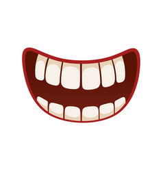 smile icon pleased kind amused face expression vector image