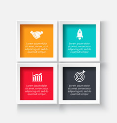 Square for infographic vector
