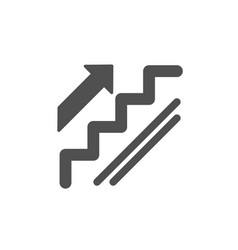 Stairs icon shopping stairway sign vector
