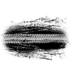 tire track offroad car bike wheel grunge mark vector image