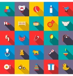 Toys icons set flat style vector image
