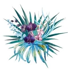 Tropical floral composition vector