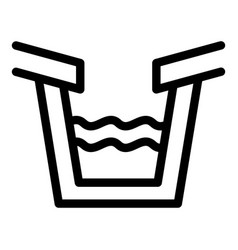 Trough gutter icon outline style vector