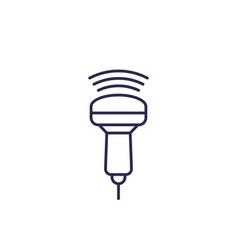 Ultrasound icon line vector