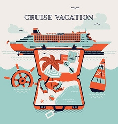 Vacation on a Cruise vector