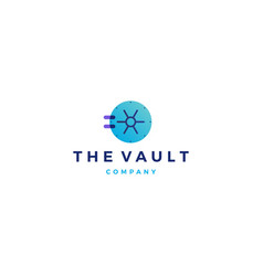Vault logo door icon vector