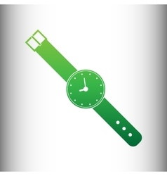 Watch sign Green gradient icon vector image