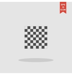wooden chess board flat view from top vector image