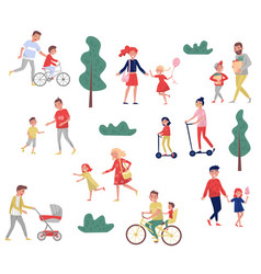 young parents spending time with their kids vector image