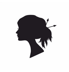 abstract black silhouette woman vector image vector image