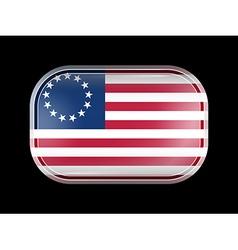 American Betsy Ross Flag Rectangular Shape vector image