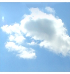 cloudy sky background vector vector image