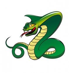 danger green cobra vector image vector image
