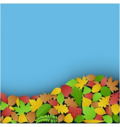 green and autumn leaves backer vector image vector image