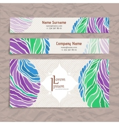Set of design templates Business card with vector image vector image
