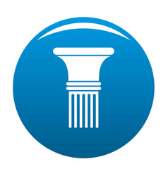 fluted column icon blue vector image