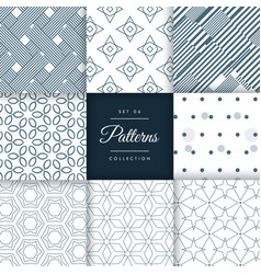 Minimal style patterns pack set in different vector