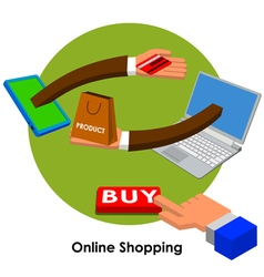 online shopping3 vector image vector image