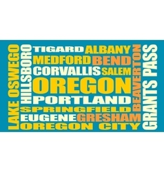 Oregon state cities list vector image