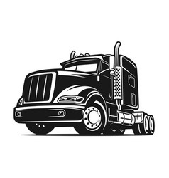 truck black and white vector image vector image