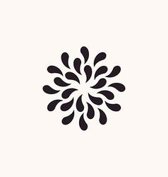 vintage floral background Silhouette plants drops vector image