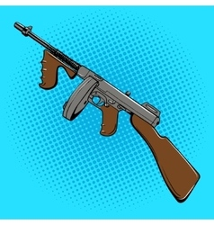 Automatic gun comic book style pop art vector image
