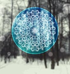 Decorative abstract snowflake vector image