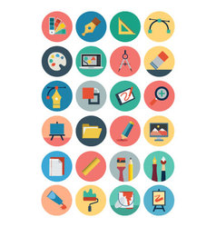 Flat Design Icons 1 vector image vector image