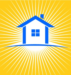 House sunburst logo vector