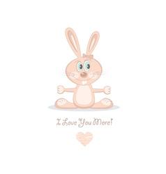 pink love rabbit vector image