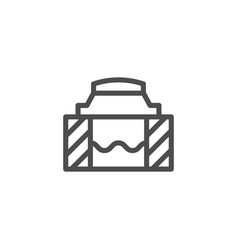 sewer hatch line icon vector image vector image