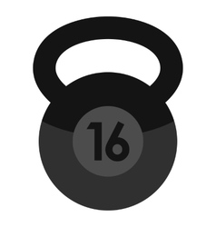 Weight icon flat style vector