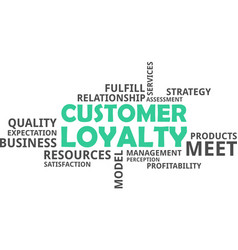 word cloud - customer loyalty vector image