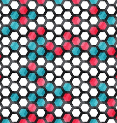 blue and red color cells seamless pattern vector image vector image