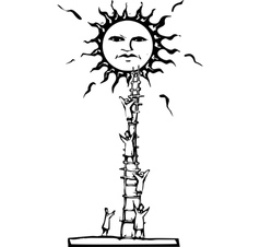 Ladder to the Sun vector image vector image